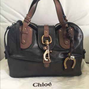 CHLOE KERALA LEATHER SATCHEL WITH CHARMS